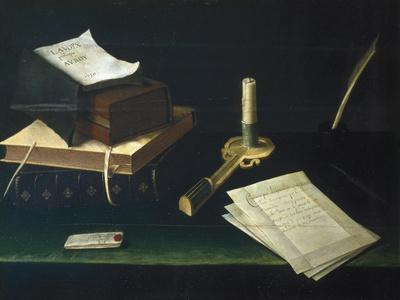 Still Life of Books and Letters