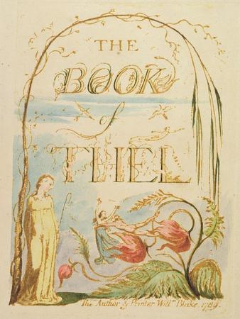 The Book of Thel, Plate 2 (Title Page), 1789