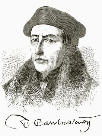 Thomas Cranmer, from 'The National and Domestic History of England' by William Hickman Smith…