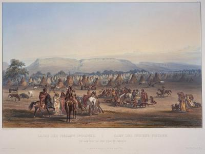 Encampment of the Piekann Indians, Engraved by Beyer and Hurliman, Published in 1839