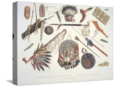 Indian Utensils and Arms, Engraved by Du Casse, Published in 1841