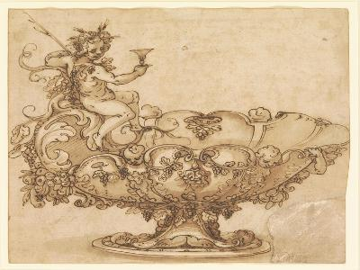 Design for an Elaborate Urn with Putto and Vines
