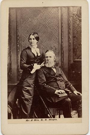Rutherford Birchard Hayes (1822-93), 19th President of the USA, and Lucy Ware Webb Hayes…