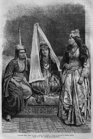 Druze Princess, from 'La Syrie D'Aujourd'Hui. Voyages Dans La Phenicie, Le Liban Et La Judee.…