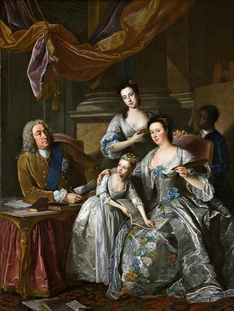 Richard Boyle, 3rd Earl of Burlington and 4th Earl of Cork, with His Wife Dorothy Savile and…