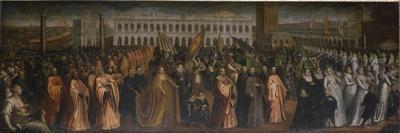 The Dogaressa Marina Morosini-Grimani Leaving Palazzo Grimani for Her Coronation in the Palazzo…