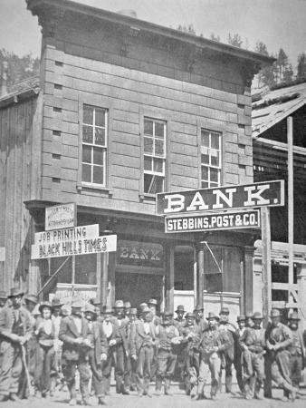 Gold Miners at Deadwood City, South Dakota, C.1877