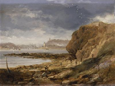 Shields from the Harbour Mouth, 1845