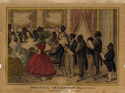 Practical Amalgamation (Musical Soiree), Published by John Childs, New York, C.1839