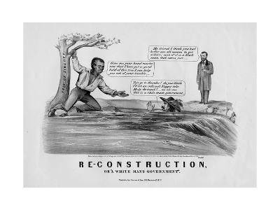 "Re-Construction, Or, ""A White Man's Government"", Published by Currier and Ives, New York, 1868"