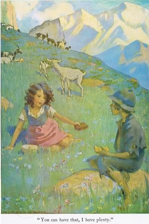 You Can Have That, I Have Plenty', Illustration from 'Heidi'