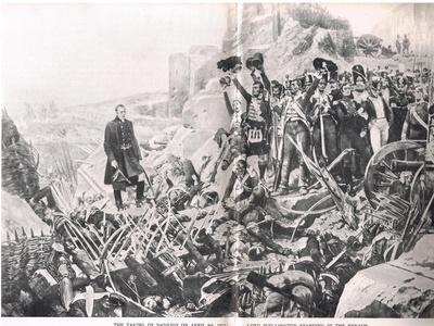 The Taking of Badajoz, Illustration from 'British Battles on Land and Sea', Published by Cassell,…