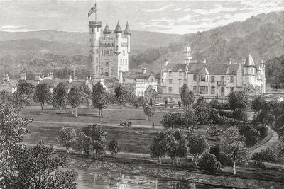 Balmoral Castle, Aberdeenshire, Seen from the River Dee, from 'scottish Pictures Drawn with Pen…