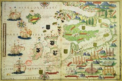 Map of Europe, from a Facsimile of the 'Miller Atlas' by Pedro and Jorge Reinel, and Lopo Homem,…