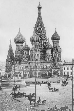 The Cathedral of St. Basil the Blessed on the Red Square in Moscow