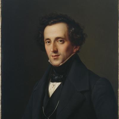 Portrait of Felix Mendelssohn, Duesseldorf, 1834-35
