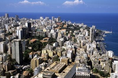 Aerial View of West Beirut