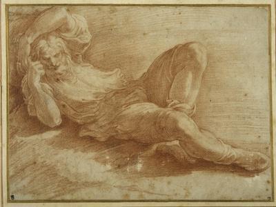 Bearded Figure, Sleeping