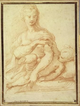The Virgin Playing with the Child on Her Lap