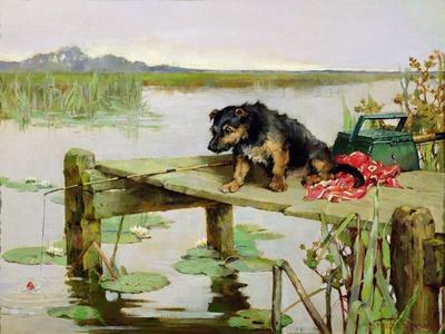Terrier - Fishing, C.1890