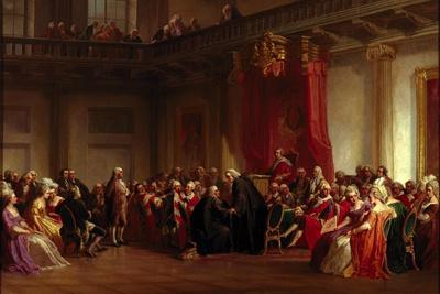 Benjamin Franklin Appearing before the Privy Council