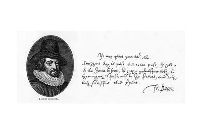 Handwriting and Signature of Sir Francis Bacon from a Letter to King James, April 29, 1615