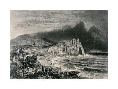 Etretat, Illustration from the Chapter on Normandy from 'La Normandie Illustree', Engraved by…