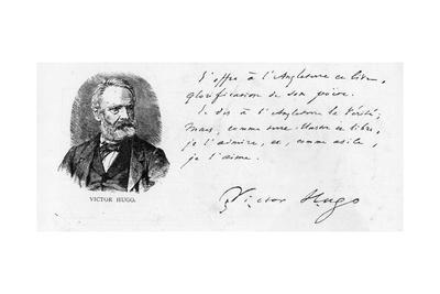 Victor Hugo's Dedication to England of His Book on Shakespeare, C.1864
