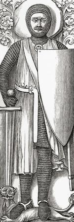 Effigy of William Marshall from His Tomb in Temple Church, London, from 'A Short History of the…