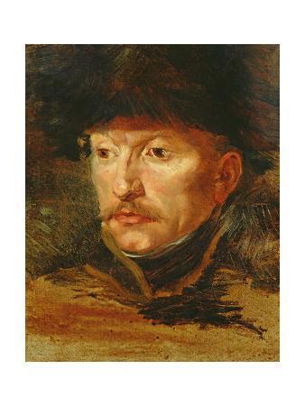 Head of a Horseman (Portrait De Lieutenant Dieudonne), C.1812