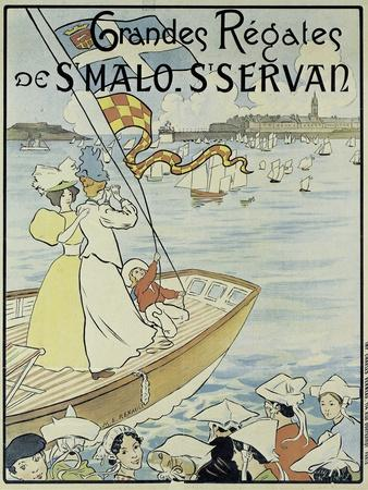 Poster Promoting the St. Malo and St. Servan Regatta, C.1895