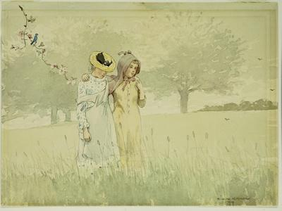 Girls Strolling in an Orchard, 1879