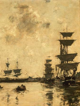 Deauville: Schooners at Anchor, 1887