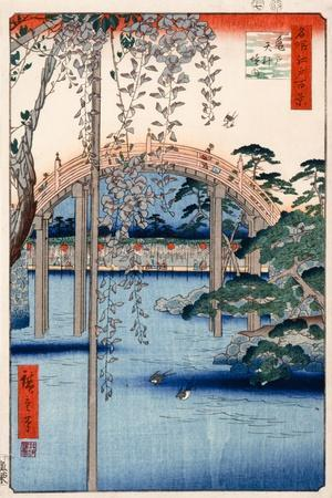 Grounds of Kameido Tenjin Shrine, Plate 57 from the Series 'One Hundred Views of Famous Places in…