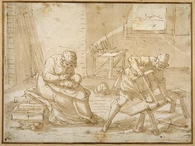 Study for the Holy Family in the Carpenter's Shop