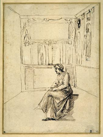 A Woman Seated in a Room