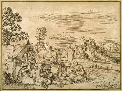 Landscape with Gypsies Bivouacking