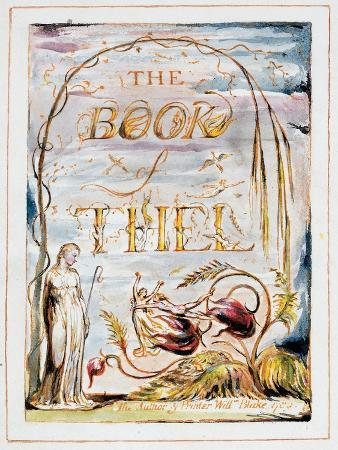 Frontispiece of 'The Book of Thel', 1789