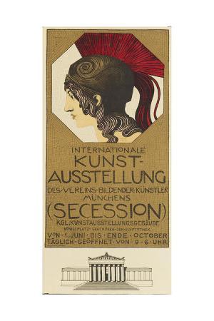 Poster Advertising the International Art Exhibition, Munich, 1898