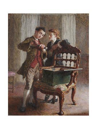 A Drawing Room Scene with an Imposing Open Armchair