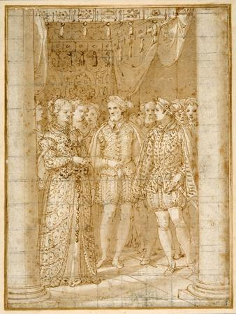 Betrothal of Ottaviano Farnese to Margaret of Parma, in the Presence of Henri II of France