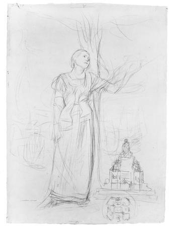 Figure Study for 'Joan of Arc'