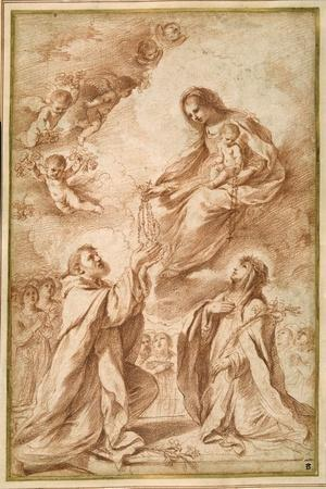 The 'Madonna Del Rosario' with St. Dominic and St. Catherine of Siena