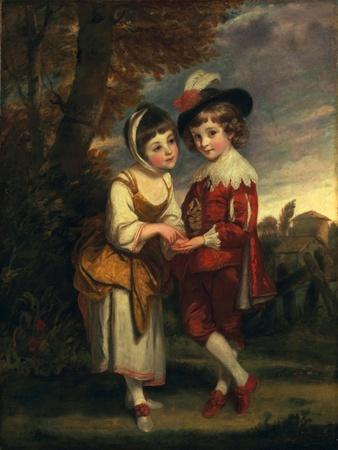 Lord Henry Spencer and Lady Charlotte Spencer, Later Charlotte Nares: the Young Fortune Tellers,…