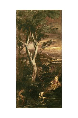 Jacopo Tintoretto Penitent Magdalene Giclee Canvas Print  Poster