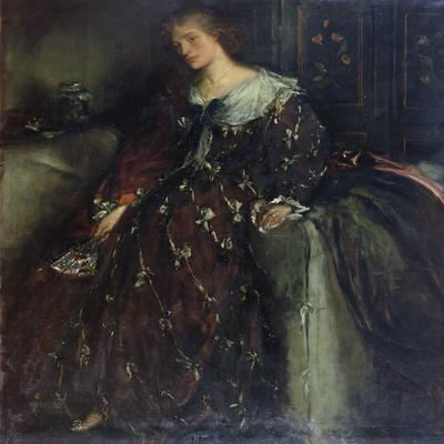 The Lady with the Green Fan, Portrait of Mrs Hacon