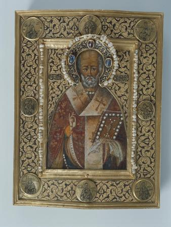Icon of St. Nicolas the Miracle Worker, Kremlin Workshops, Moscow, Second Half of the 16th Century