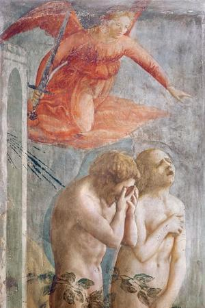 Detail of Adam and Eve Banished from Paradise, C.1427 (Detail)