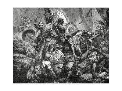 Battle in the Pass of Roncesvalles on 15 August, 778, C.1890
