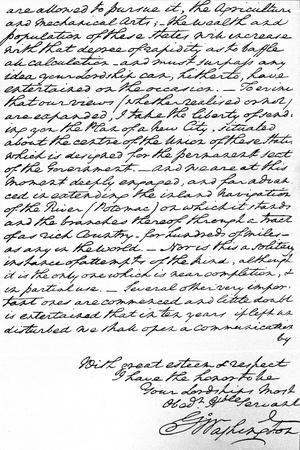 Letter from George Washington to the Earl of Buchan Stating the Principles for Future American…